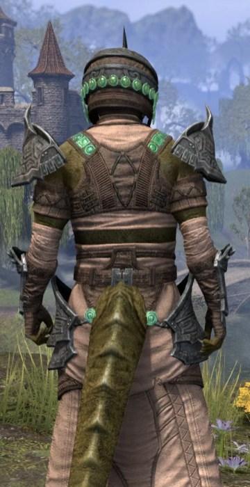 Sul Xan Homespun - Argonian Male Robe Close Rear