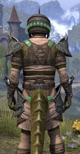Sul Xan Homespun - Argonian Male Shirt Close Rear