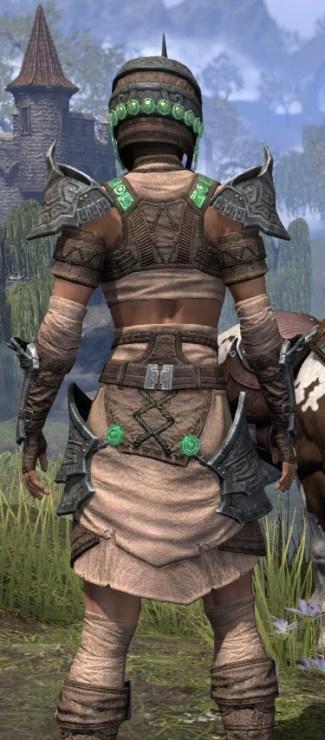 Sul Xan Homespun - Female Shirt Close Rear