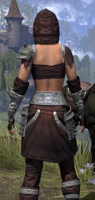 Crimson Oath Ancestor Silk - Female Shirt Close Rear