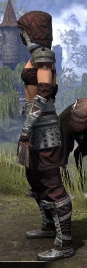 Crimson Oath Ancestor Silk - Female Shirt Side