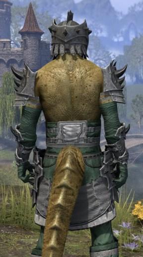 Crimson Oath Iron - Argonian Male Close Rear