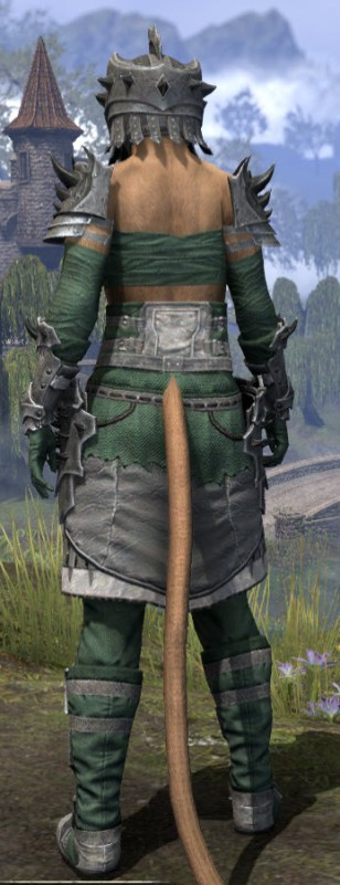 Crimson Oath Iron - Khajiit Female Rear