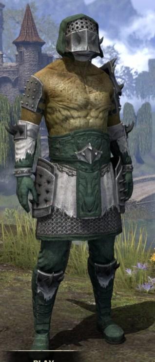 Crimson Oath Rawhide - Argonian Male Front
