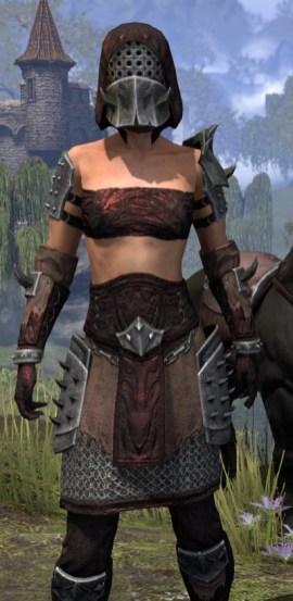 Crimson Oath Rubedo Leather - Female Close Front