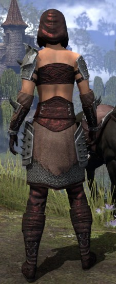 Crimson Oath Rubedo Leather - Female Rear