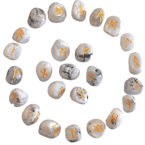 Runes Divinatoires Pierre de Lune