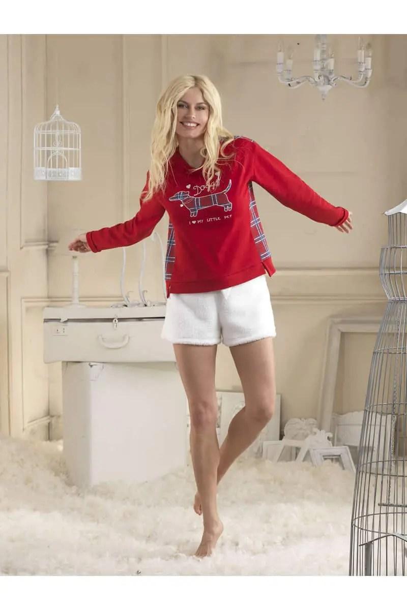 Πυζάμα Γυναικεία Fleece με Παντελόνι & Σορτς venerered - Venere
