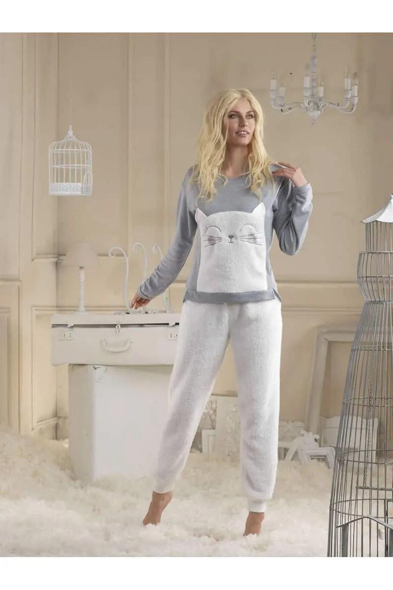 Women's Fleece Pajamas with Pants & Shorts - esorama.gr