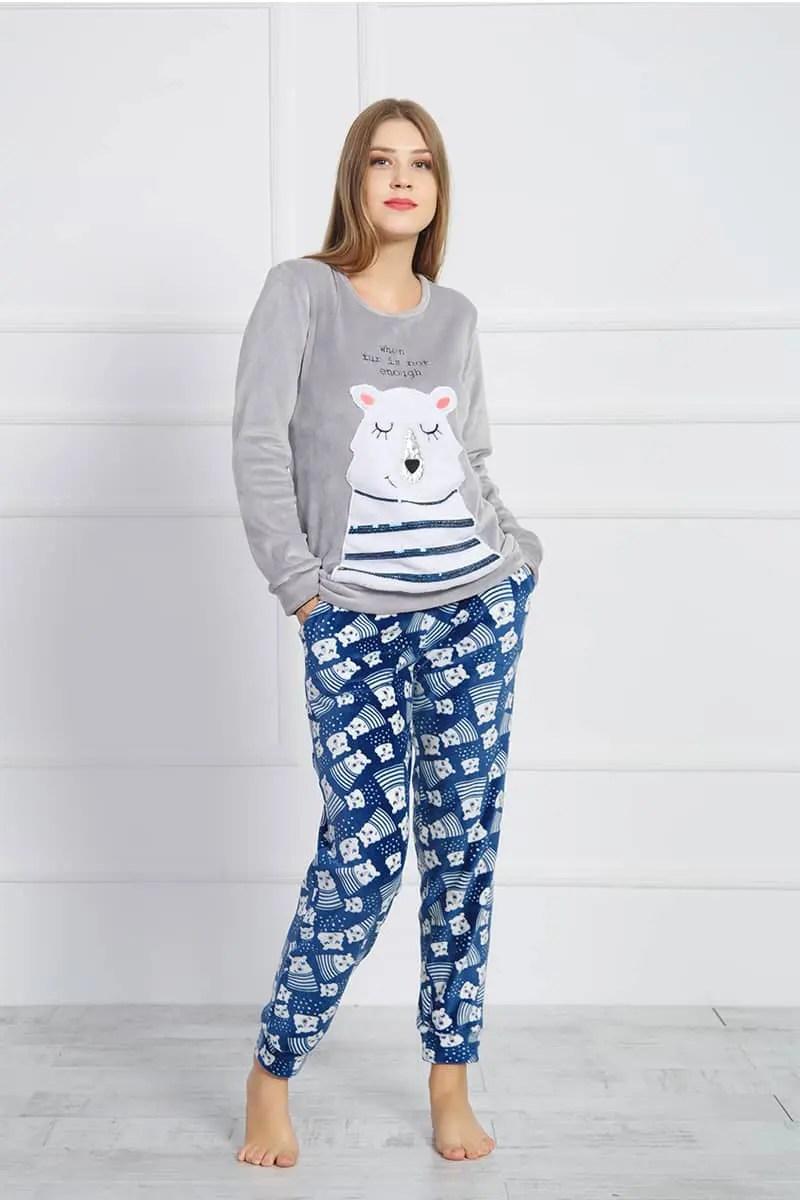 Polar Bear Women's Velvet Pajamas -