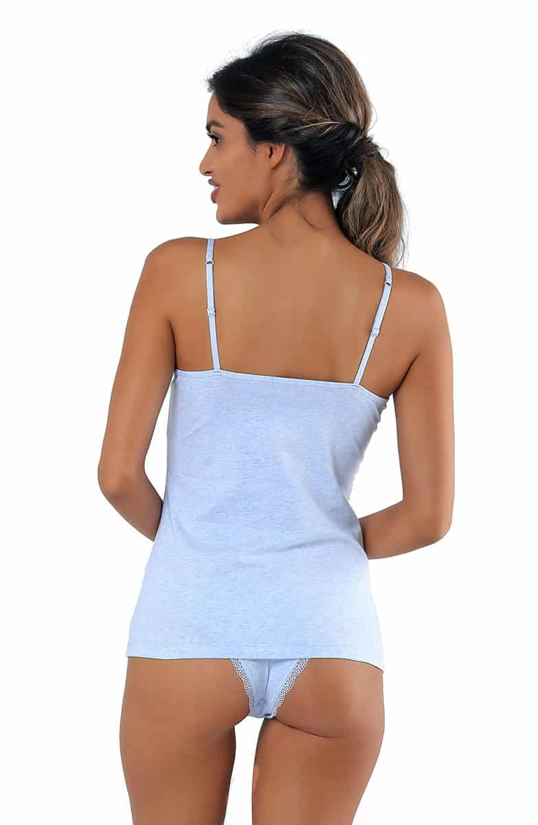 Women's Grace Melange Blue T-shirt -