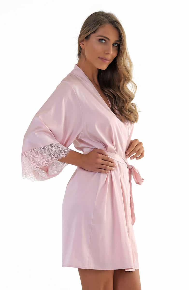 Jill Pink Women's Satin Robe -