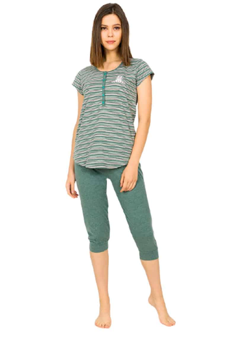 Women's Summer Pajamas 90240000 Green -