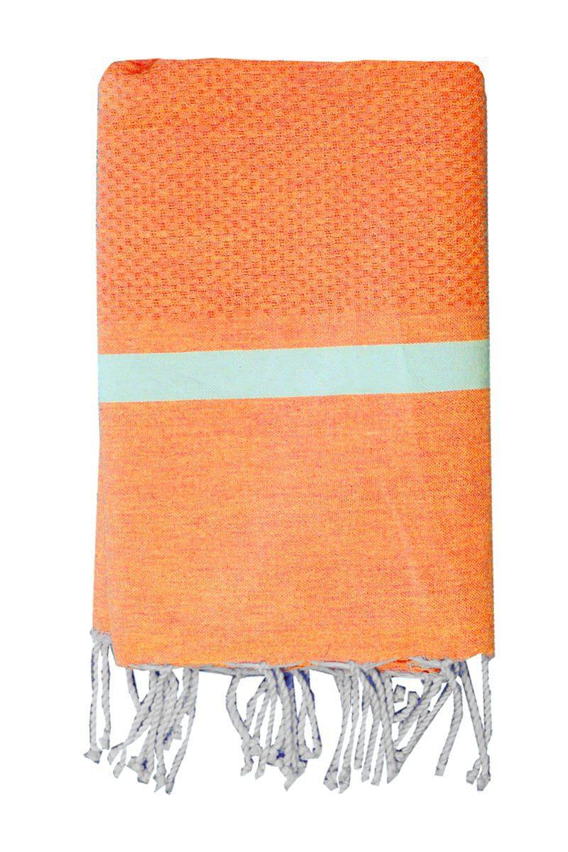 Beach Towel - Hammam Mellissa 100x200cm Orange - Le Comptoir De La Plage