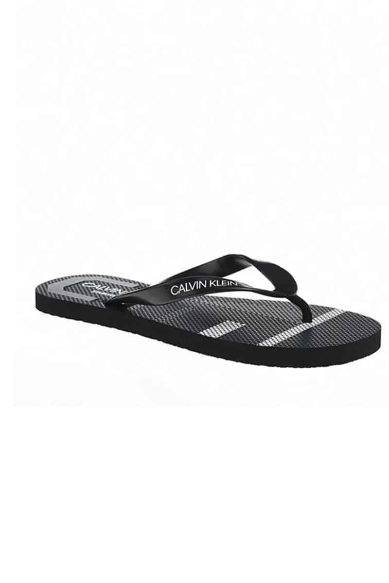 Calvin Klein Σαγιονάρες Ff Sandals KM0KM00339-470 Μαύρο - Calvin Klein