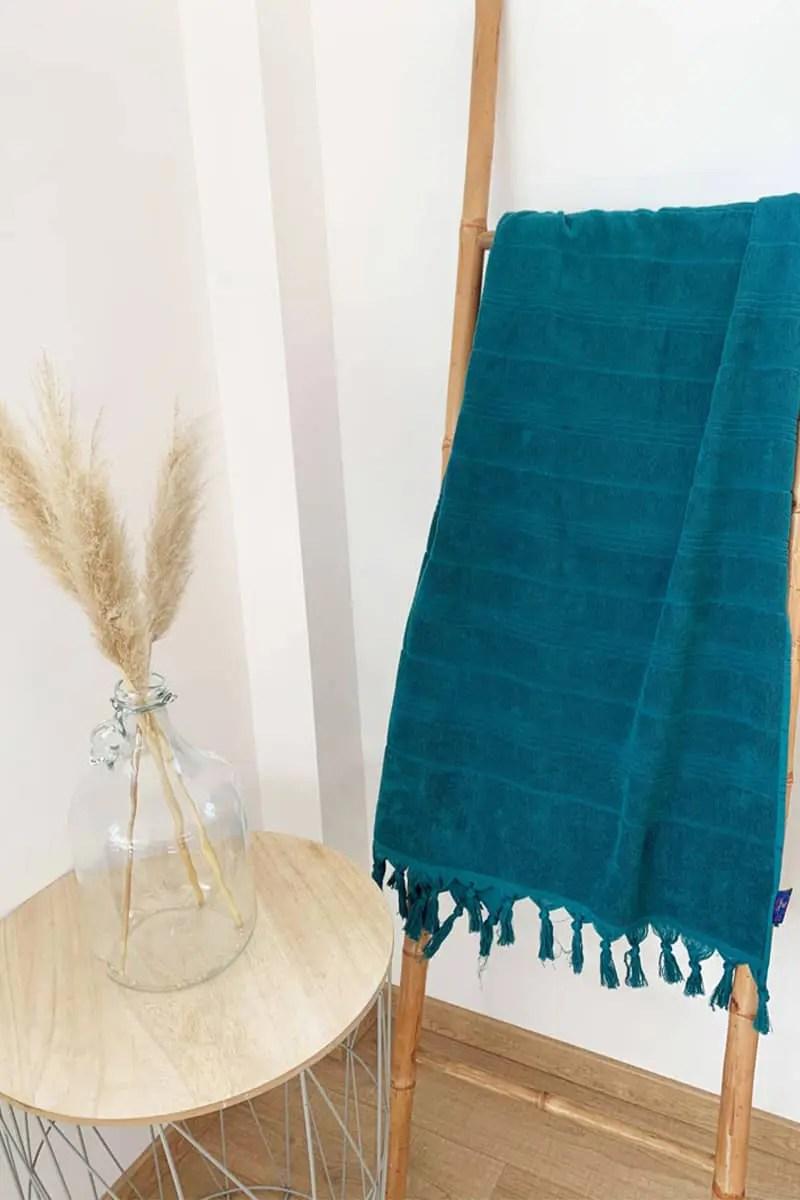 Beach Towel - Hammam Light Green 90x160cm - Le Comptoir De La Plage