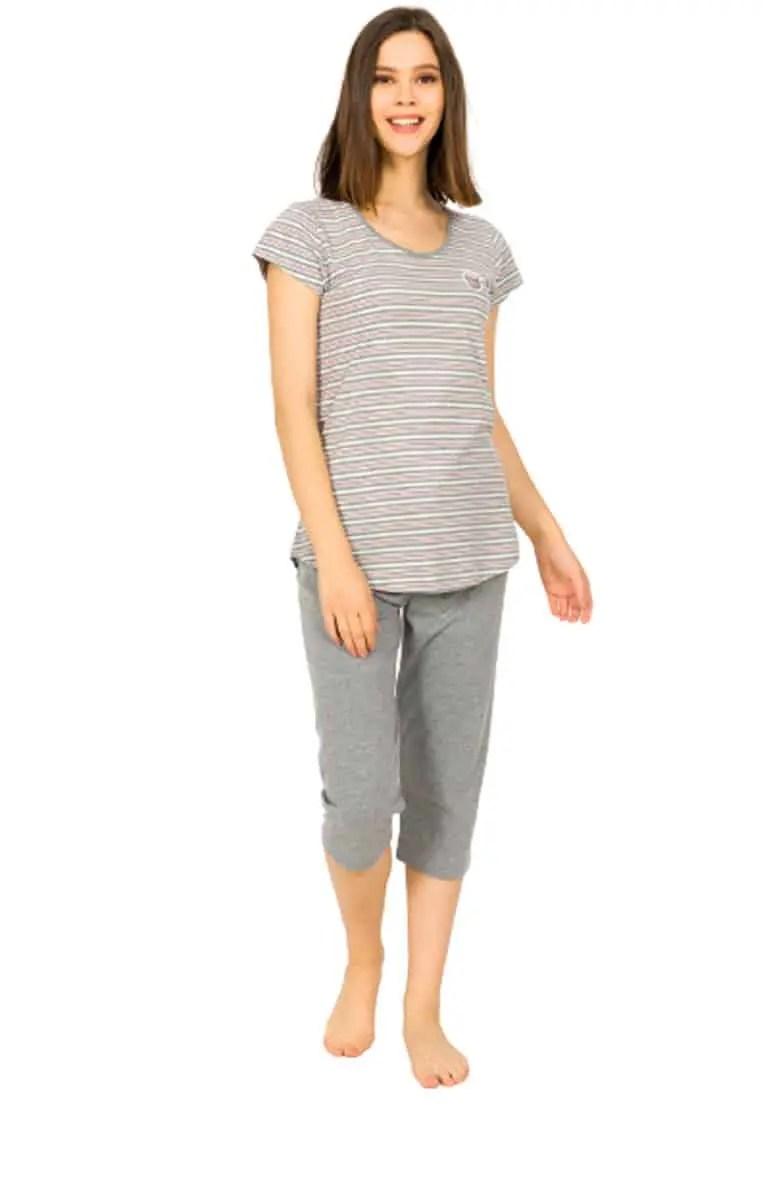 Women's Summer Pajamas 9055 Gray -