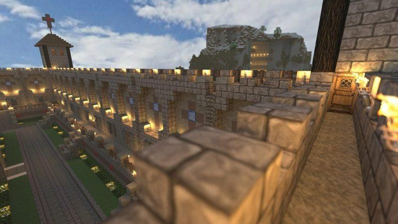 A Player-Built Minecraft castle