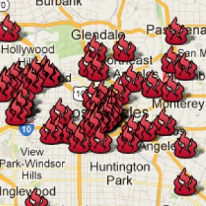 Preservation Hot Spot Map Los Angeles County