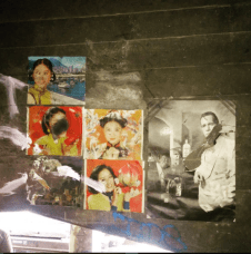 Secret pinup gallery deep inside an historic bridge. — at Los Angeles River.