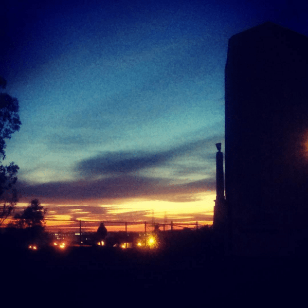 Sixth Street Bridge sunset