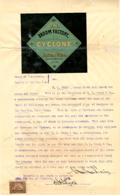 cyclone broom 1901