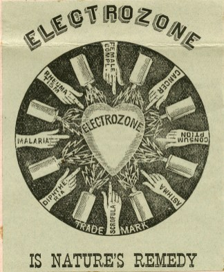 Electrozone medical compound 1890