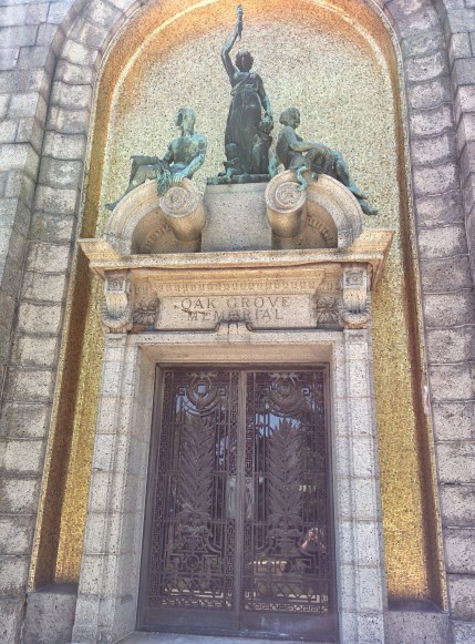 Oak Grove Cemetery mausoleum entrance