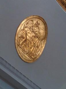 Oak Grove Cemetery mausoleum gilded rondelle
