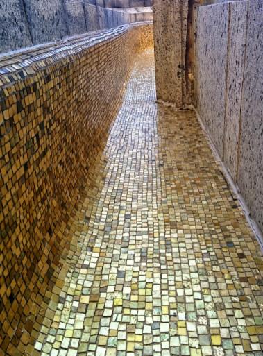 Oak Grove Cemetery mausoleum mosaic
