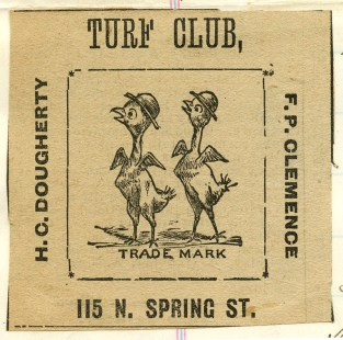 Turf Club picked chicks 1885