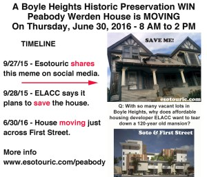 Esotouric's Meme that saved the Peabody Werden House