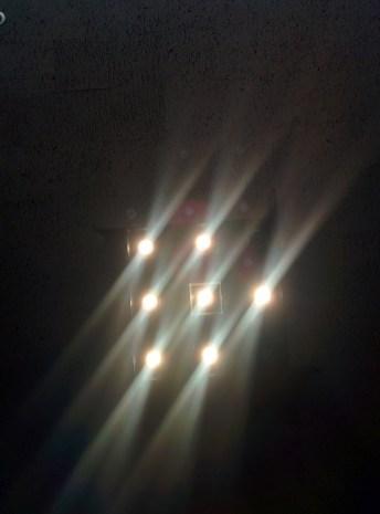 Norman Chandler Pavilion light fixture (on)