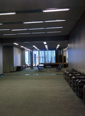 Wide halls in the Peirera corporate HQ
