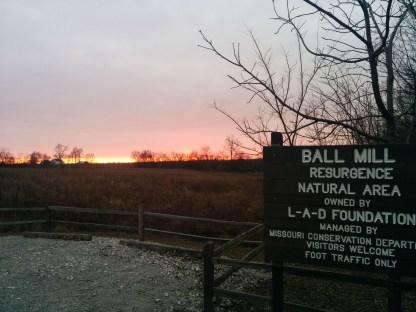 Ball Mill Resurgence at sunset
