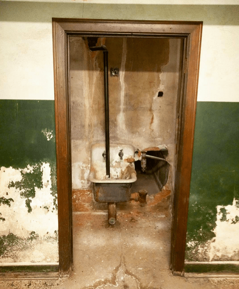 Sink in a closet in the Subway Terminal Building.
