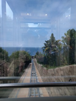 The view from the top of the incline