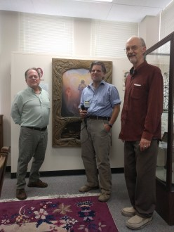 (right to left) Robert Ray, Richard Schave, Kenneth Small at the exhibit.