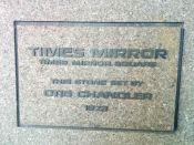 Dedication Plaque Times-Mirror HQ