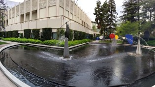 Founder's Court, Bing Theater in the background