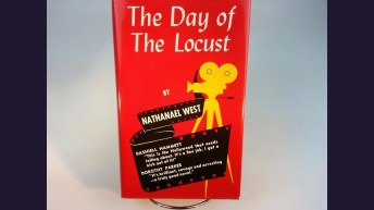"""First Edition of West's, """"Day Of The Locust,"""" which sat in the front window of Stanley Roses' bookshop"""