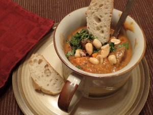 Serve soup topped with cilantro and peanuts