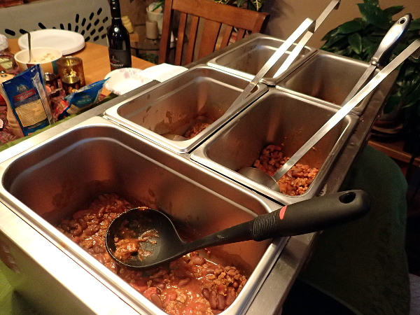 Each chili in its own serving container
