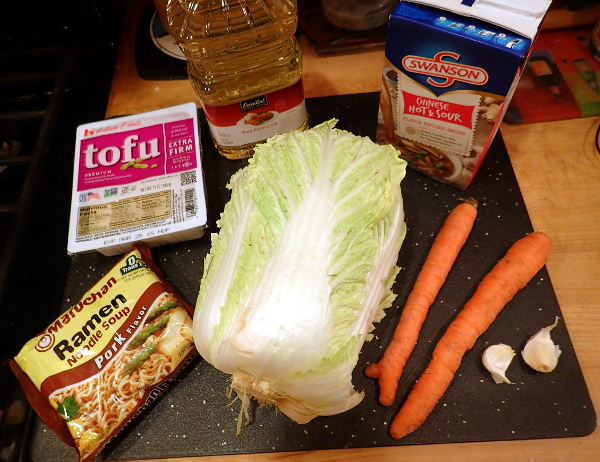 Hot and Sour Chinese Vegetable Soup Ingredients