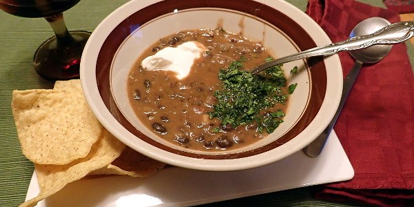 Black Bean Salsa Soup