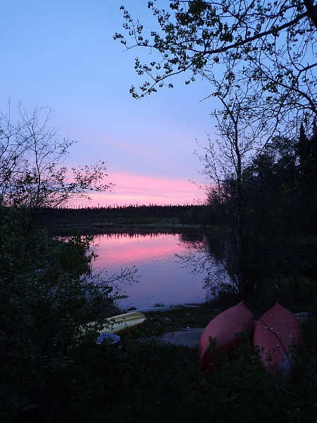 Sunrise over the Rennie River in Whiteshell Provincial Park
