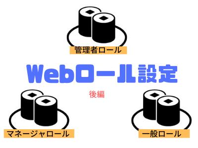 Webロール設定後編