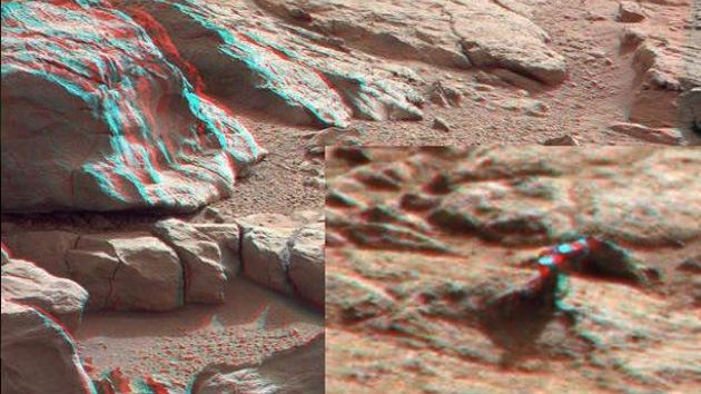 Curiosity encuentra un misterioso objeto metálico en Marte