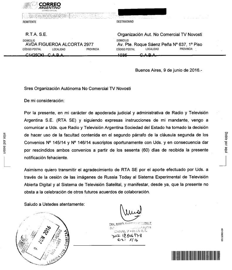 RT en Argentina