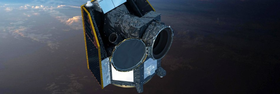 CHEOPS satellite 3D model in space